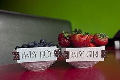cool gender reveal idea... but with raspberries.