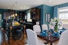 Teal Kitchen. Wall color - maybe?