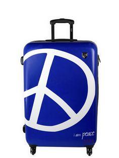 I Am Peace Victoria Blue Hardside  I Want This Fabulous Suitcase Peace Love Worldlug E