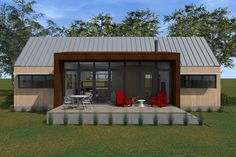 Plan #933-5 - Houseplans.com Little House Plans, Small House Plans, House Floor Plans, Cute Small Houses, Small Tiny House, Cottage Design, Tiny House Design, 1000 Sq Ft House, Icf Home