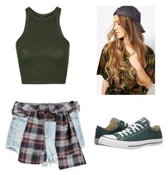 """""""Set#233"""" by anneclo2 on Polyvore featuring mode, Topshop, Reclaimed Vintage, GUESS et Converse"""