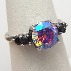 Unique Engagement Ring Cosmic Muse Mystic by MysticTopazJewelry