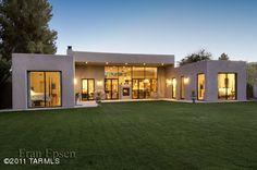 contemporary home, rear