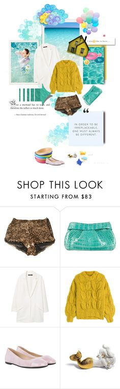 """From house right to the sea..."" by grazhina ❤ liked on Polyvore featuring French Connection, Nancy Gonzalez, MANGO, Maison Margiela, HUGO and Lladró"