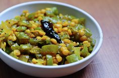 Snake Gourd / Podalanga Masala (edible garden) -- super duper easy :D has chana dal for protein. This only requires basic indian pantry spices.