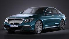 Mercedes E-class sedan 2017 3D Model .max .c4d .obj .3ds .fbx .lwo .stl…