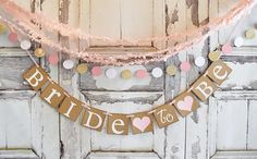 Bride To Be banner bridal shower decorations bridal party bride to be  Wedding sign bridal shower decorationsBridal Shower banner