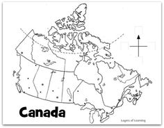 Printable Map Of Canada Provinces Printable Blank Map Of Canada