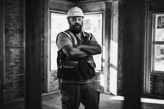Builder portraits on site for Genesis. Lit with two octa's.  #construction #beard #onlocation #onsite #genesis #nikon #d800 #sigmaART50 #50mm #einstein #octa by nathanelson