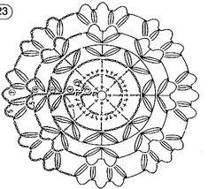 Crochet Pillow Pattern, Crochet Motifs, Crochet Diagram, Crochet Chart, Crochet Squares, Knit Crochet, Crochet Patterns, Victorian Christmas Ornaments, Crochet Dollies