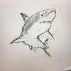 "Art Hyser on Instagram: ""Reto abril, día 15! #dibujo #dibujos #boceto #bocetos #draw #drawing #drawings #tiburon #sketch #tiburondibujo #shark #sharkdrawing #art…"""