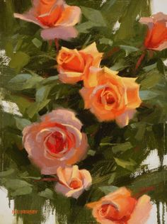 """""""Rio's Roses"""", oil on panel, by Laurie Kersey"""