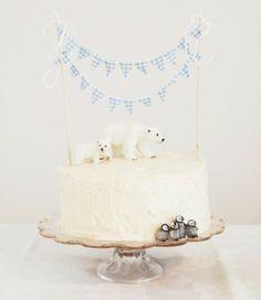 eisiger Kuchen mit Eisbären (und Pinguinen?)