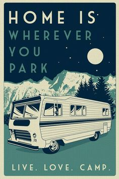 this is original artwork vintage retro camping silk screen print poster live love camp camper night sky - etsy hand screen printed 2 color design. and x POSTER Auto Camping, Camping Glamping, Outdoor Camping, Camping Ideas, Camping Canopy, Camping Signs, Camping Humor, Camping Supplies, Canopy Tent