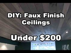 Using cheap cottage grade wood you can find at the local building supply store, you can create a barn faux finish looking ceiling using the really cheap wood. Finish Basement Ceiling, Basement Ceiling Insulation, Basement Subfloor, Basement Ceiling Options, Basement Finishing, Unfinished Basement Ceiling, Ceiling Finishes, Unfinished Basements, Basement Ceilings