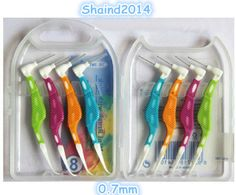 40 Pcs Dental Oral Care Interdental Floss Brush Tooth Pick 0.7mm 8 Pcs/Box #Shaind2014