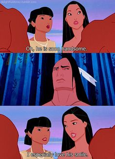 You tell her Pocahontas!