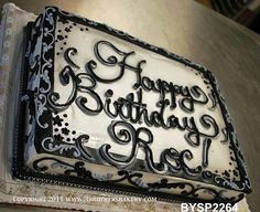 adult twins birthday sheet cake | BYSP2264 Sheet Cake double writing cake by 3 Brothers Bakery