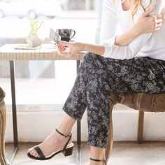 Out and about in our favorite patterned pants.