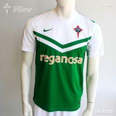 La camiseta oficial de juego Racing Club de Ferrol para la temporada 2014/2015, de la marca Nike. Polo Shirt, Polo Ralph Lauren, Club, Nike, Sports, Mens Tops, Fashion, Game, Seasons