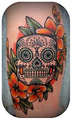 David Hale, day of the dead candy skull. THE COLORS!
