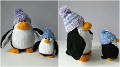 This winter, why not snuggle up with this penguin knitting pattern by Amanda Berry - perfect as toys for your little ones or as home decor. Click this imag Loom Knitting, Knitting Patterns, Winter Home Decor, Crochet Projects, Berry, Amanda, Craft Supplies, Free Pattern, Bubbles
