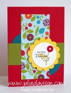 Julie's Stamping Spot -- Stampin' Up! Project Ideas Posted Daily: Surprise Diorama Box Card Tutorial