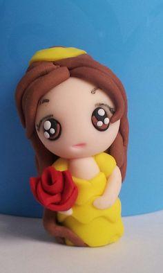 Princess Belle chibi  Polymer clay disney