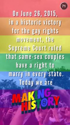 GAY MARRIAGE LEGALIZED IN ALL 50 STATES- so proud of our country. it's about time
