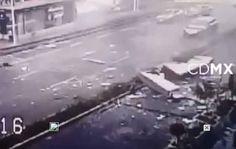 (VIDEO) EXPLOSIÓN EN CAFETERÍA DE FÉLIX CUEVAS, MÉXICO D.F.