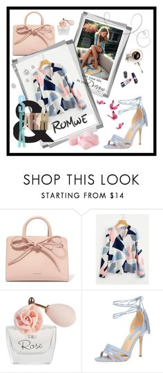 """""""ROMWE -new contest with prize!Abstract Geo Print Blouse"""" by hodzicalena ❤ liked on Polyvore featuring Mansur Gavriel, Dana and Dorothy Perkins"""