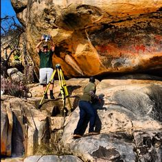 @justinscans working along side the Department of Geomatics of the University of KwaZulu-Natal & The African Conservation Trust to digitally preserve San (Bushman) Rockart. All this is going down in Kruger National Park, South Africa. #surveylife
