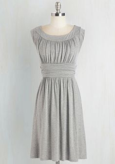 I Love Your Dress in Stone - Grey, Solid, Ruching, Casual, A-line, Sleeveless, Knit, Good, Mid-length, Maternity, Top Rated