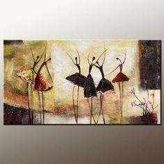 Abstract Art, Contemporary Wall Art, Modern Art, Ballet Dancer Painting, Art for Sale, 100% Hand Painted Art