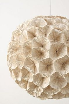 Paper rhododendron chandy from Anthro---I could totally DIY this.