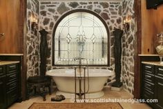 Have you heard about the home improvement company everyone has been talking about? Colorado Springs Stained Glass makes beautiful stained glass windows. Check out this gorgeous bathroom!