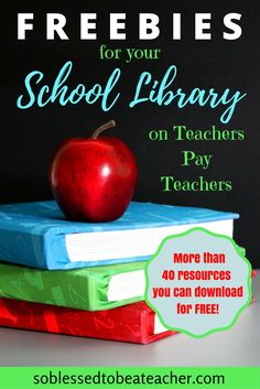 Over 40 FREE products for the Library/Media Center! School Library Lessons, Library Lesson Plans, Elementary School Library, Library Skills, Middle School Libraries, Class Library, Library Center, Library Science, Library Activities
