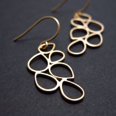 luxe bubbles gold earrings