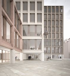 Grafton, Chipperfield, Diller Scofidio - Shortlist für Uni-Erweiterung in London