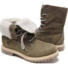 Womens Timberland Authentics Teddy Fleece Waterproof FoldDown Boot Denim ShoesShoes
