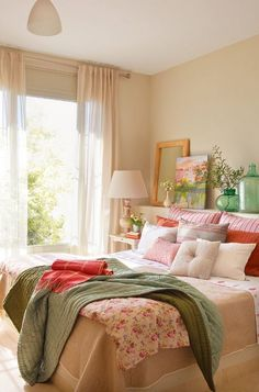 Color scheme - beige, rose, pale green. Very nice - relaxing, warm, still colorful. Too girly?