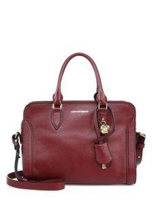 ALEXANDER MCQUEEN Padlock Small Zip Leather Satchel. #alexandermcqueen #bags #shoulder bags #hand bags #leather #satchel #