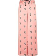 River Island Pink cactus print pajama pants (135 BRL) ❤ liked on Polyvore featuring intimates, sleepwear, pajamas, lingerie & sleepwear, pajamas / loungewear, pink, women, pink pjs, pink sleepwear and sleep pants