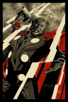 Martin Ansin's Thor Poster and Ken Taylor's Hulk Poster (Artist Copies Onsale Info)