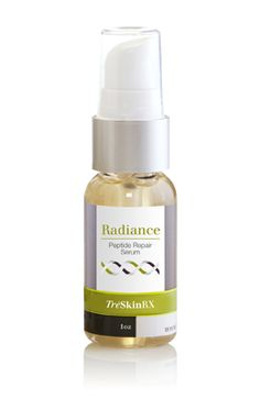 NEW!!! Radiance Peptide Repair Serum creates younger, firmer skin, while fading signs of sun damage. Radiance peptides and vitamin C stimulate cellular repair and boosts collagen to deliver amazing results. (1 oz size)  my.treskinrx.com/sharonshai