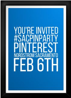 Pinterest Networking Mixer Sacramento Nordstrom on Feb 6th, 2014.  We've got fabulous prizes and fun people coming - you should be there too! http://www.eventbrite.com/e/sac-pin-party-at-arden-fair-nordstoms-tickets-9857341574?aff=efbevent