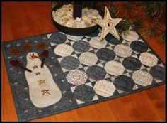Snowball Candle Mat by Primitive Gatherings