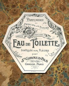 Antique Vintage French Apothecary Perfume Label 11