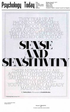 Psychology Today - A Guide to the Highly Sensitive Person