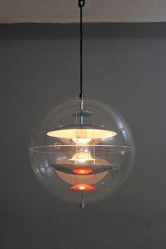 VERNER-PANTON-VERPAN-VP-GLOBE-LAMPE-DECKENLAMPE-40-cm-DANISH-60er
